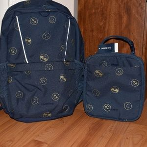 Lands' End Backpack and Lunch Box Set